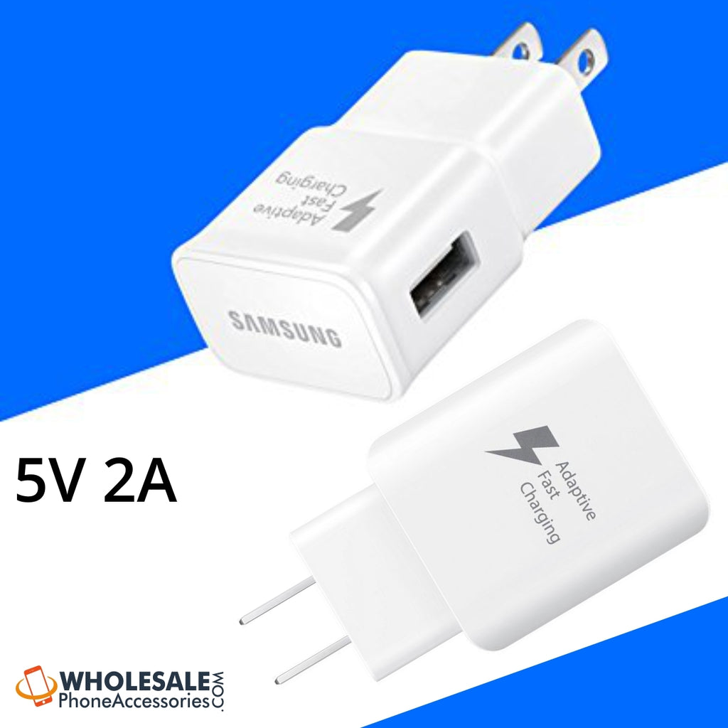 China Supplier Adaptive Fast Charger Rapid Turbo 5V 2A USB Wall Charger for Samsung Android Phones Cheap Price Wholesale USA Distributor Factory Bulk Lots Manufacturer