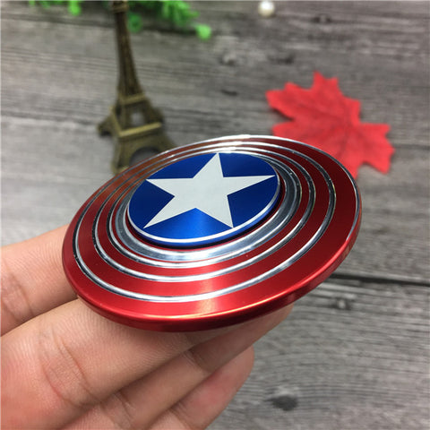 Image of Wholesale China Captain America Metal Fidget Spinner Bulk Orders ,Small,Simple,Discrete and Fun