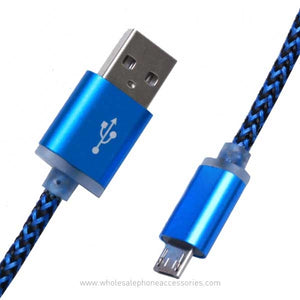 Wholesale seller Copper wire high spped charging 2A extra thick braided cable for android, Apple, Type C