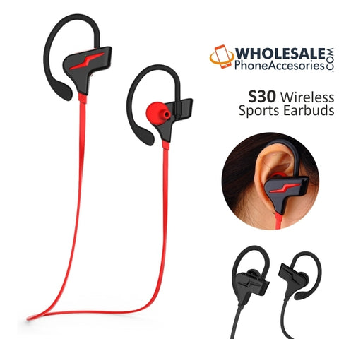 Image of China Supplier S30 Wireless Bluetooth Sports Earbuds Headsets Cheap Price Wholesale USA Distributor Factory Bulk Lots  Manufacturer
