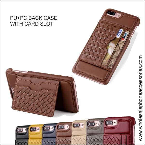 Wholesale China Factory Supplier PU+PC BACK CASE WITH CARD SLOT Cheap Price usa Distributor