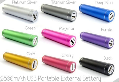 Image of cheap 2600mah metal powerbank charger bulk lots china price