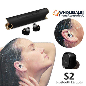 S2 TWS Wireless Mini Bluetooth Earbuds Earphones with Magnetic Charging Powerbank Case
