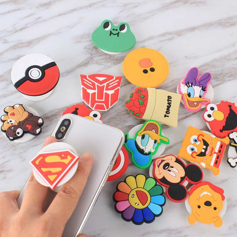 Image of 3d Cartoon Pop up Phone Holders Expandable Grip