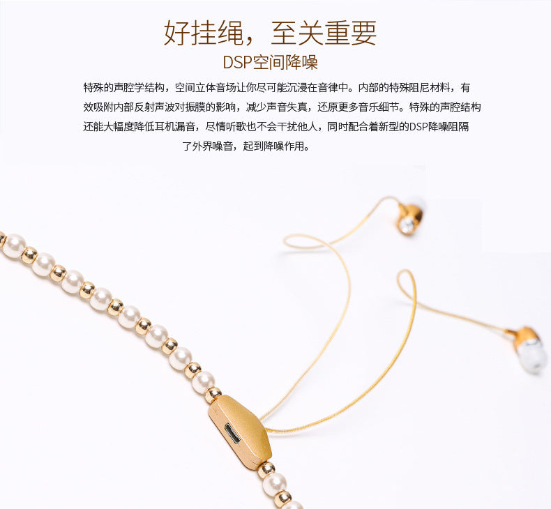 BL-100 necklace pearl Bluetooth earphone Neckband hanging type Wireless movement Bluetooth Headset 4.1 Running stereo Cheap china Factory piece