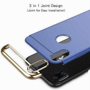 3 in 1 Hybrid Matte Hard Slim Phone Case Cover for iPhone 9 X  s 8 7 6 Plus [SHOCK PROOF]
