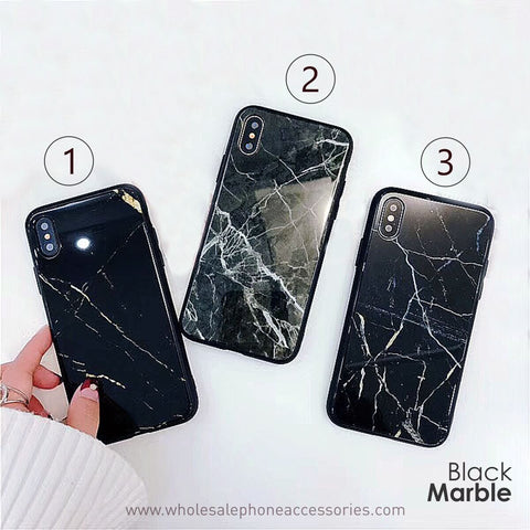 Image of   China Supplier Marble Glass Case for iPhone X Cheap Price Wholesale USA Distributor Factory Bulk Lots Manufacturer