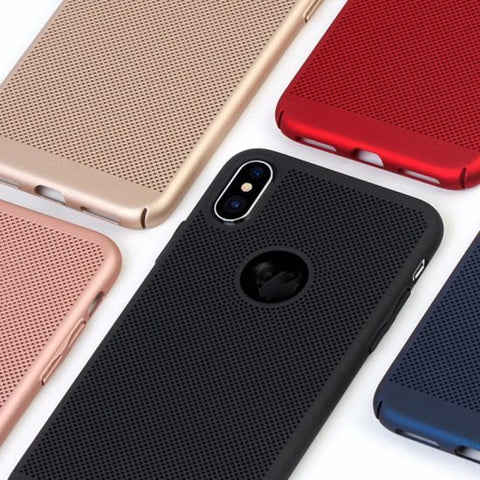 Image of Slim hard PC Dotted iPhone Xs iPhone Xs Max iPhone XR 8 7 Plus Case Cover Matte Ventilated