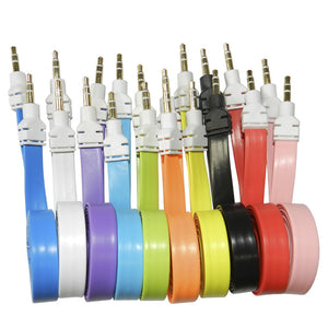 wholesale 3.5mm wide flat aux cable audio bulk lots