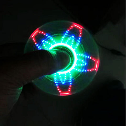 Image of China Bulk LED Light Styles Hand Finger Spinner Fidget Plastic EDC Hand Spinner For Autism and ADHD Relief Focus Anxiety Stress Toys Factory Bulk