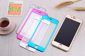 Cheap bulk lots supplier for titanium alloy tempered glass screen protector for iPhone 6 6s plus