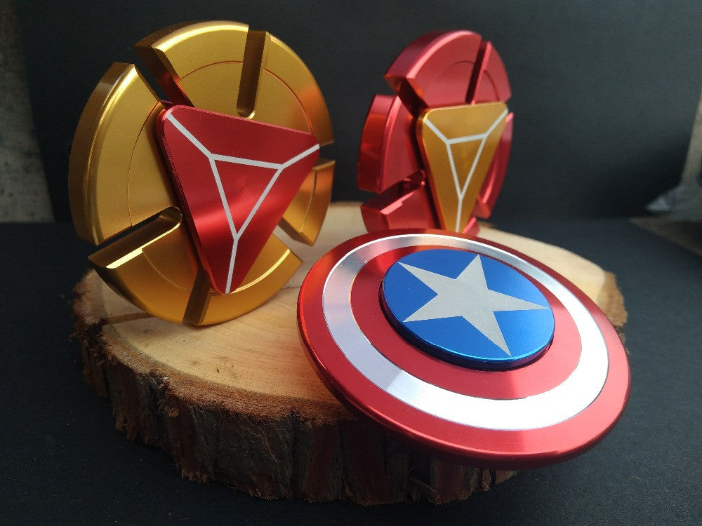 China Wholesale Marvels avengers captain america ironman arc reactor fidget spinners bulk
