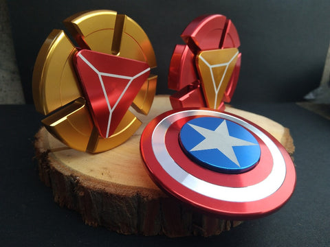 Image of China Wholesale Marvels avengers captain america ironman arc reactor fidget spinners bulk