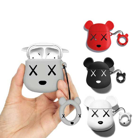 Image of Cute bear AirPods Case with Ring