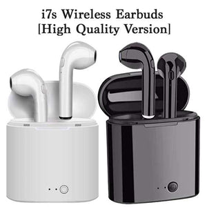 [High Quality] i7s TWS Wireless Bluetooth 4.2+EDR Earbuds Headsets with charging case
