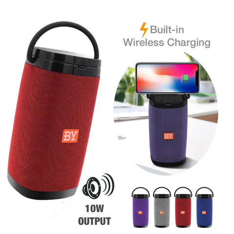 BY6650 Portable Wireless Charging Bluetooth Speaker [10W OUTPUT]
