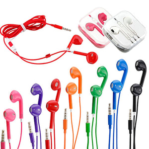 Colorful Earbuds with Volume Control & Mic for iPhone iPad