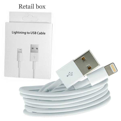AA White USB Data charger cable for iphone X 8 7 6 5 ipod