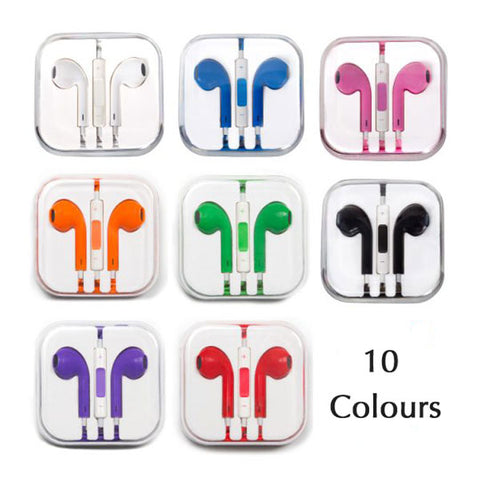 Image of Colorful Earbuds with Volume Control & Mic for iPhone iPad
