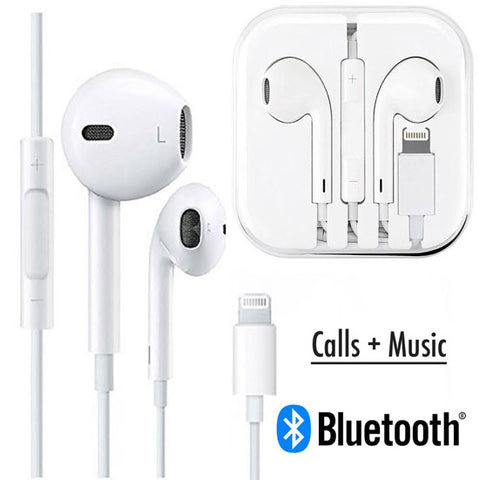 iPhone X 8 7 Earphones with lightning pin [Calls + Music]