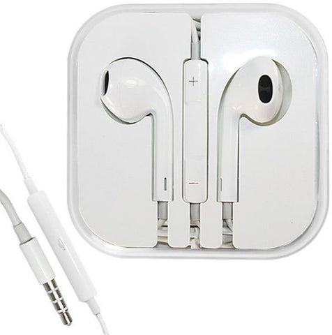 Image of 3.5mm White Earbuds for iPhone iPad Volume control & Mic