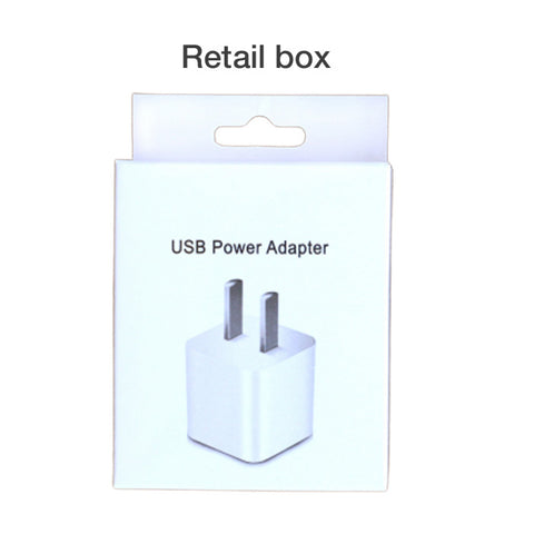 Image of 5V 1A USB Wall Charger Adapter for iPhone White Square block