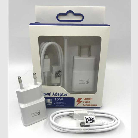 2 in 1 Kit Set 2A Adaptive Fast Charging Wall Adapter + V8 Micro USB Cable for Samsung phones
