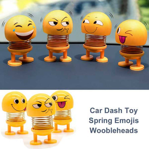 Car Dash Emoji Spring Toy Bobbleheads