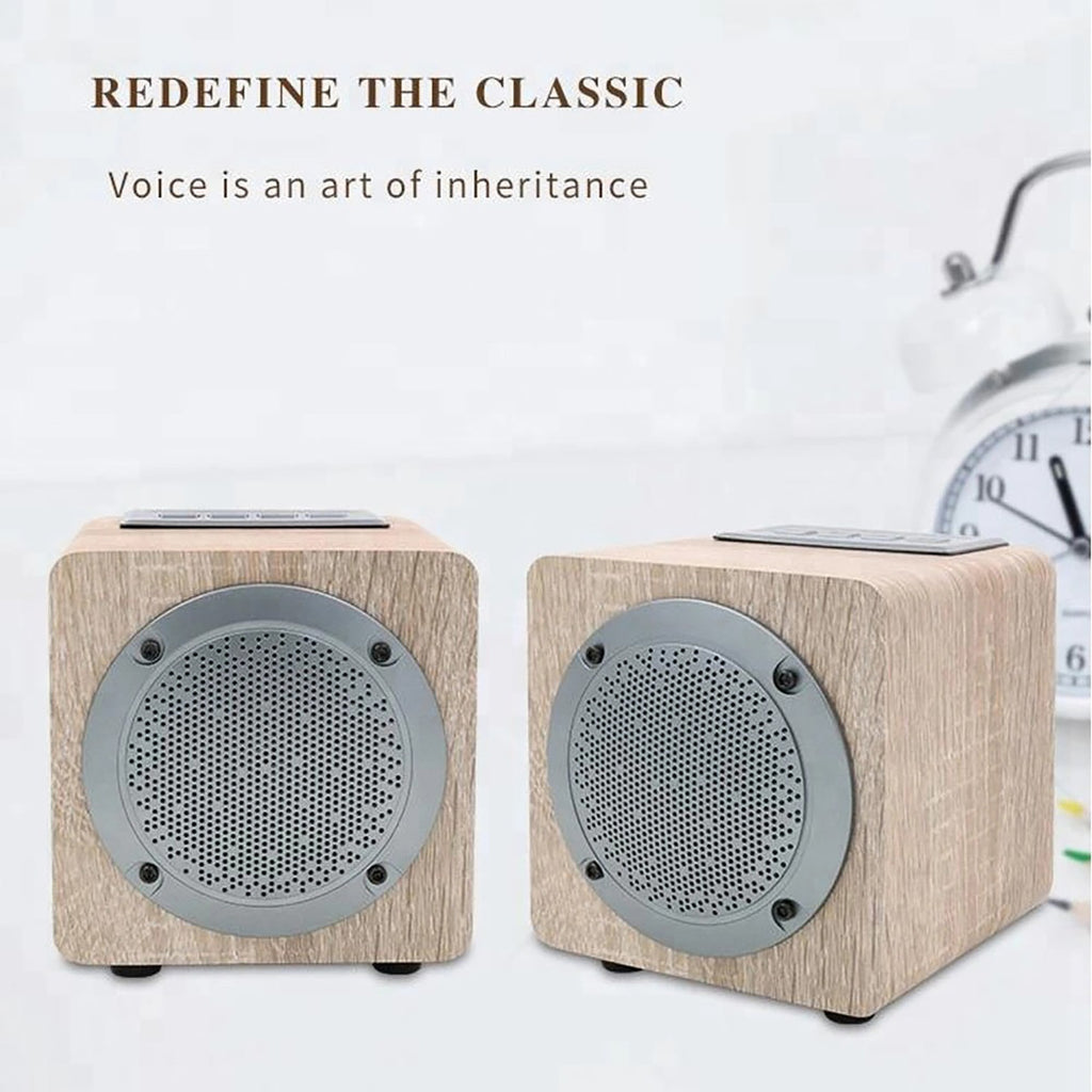 BY3080 USB AUX Amazing Wood Home Audio Bluetooth Speaker