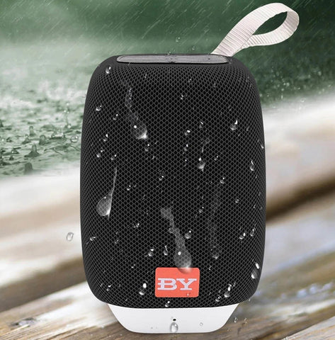 Image of BY3090 Small LED Light Home Shower Waterproof Ipx6 Woofer Bluetooth PC Wireless Speaker