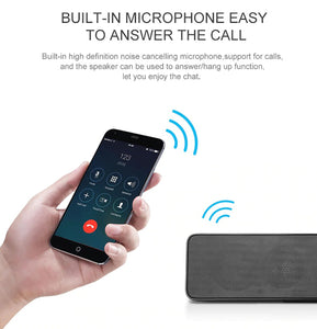 NBY 5530 Portable Bluetooth Speaker Stereo Wireless Speaker With Enhanced Bass Microphone