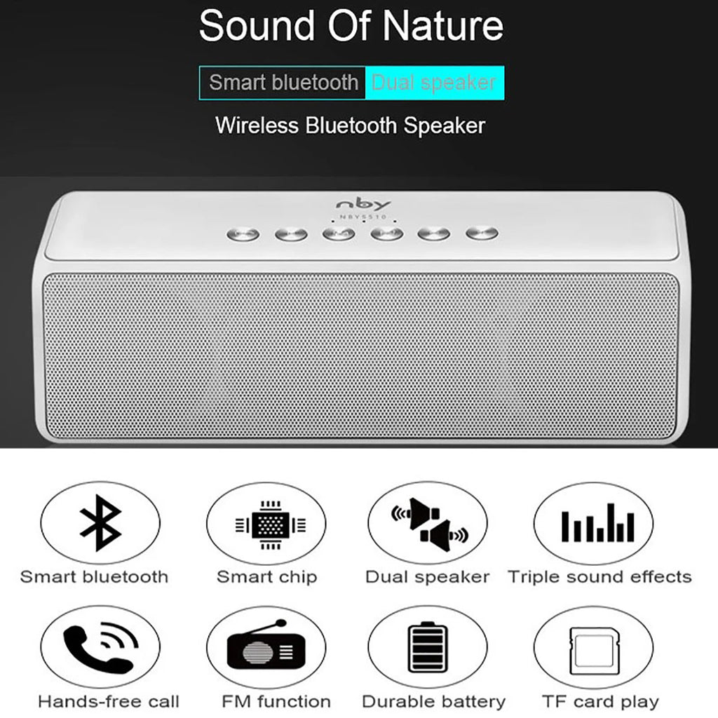 NBY-5510 Premium Portable Powerful Bass Wireless Bluetooth Speakers With FM Radio