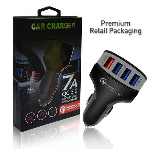 Image of QC3.0 Quick Charge 4 USB port 7A Car Charger Fast Charging Adapter