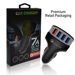 QC3.0 Quick Charge 4 USB port 7A Car Charger Fast Charging Adapter