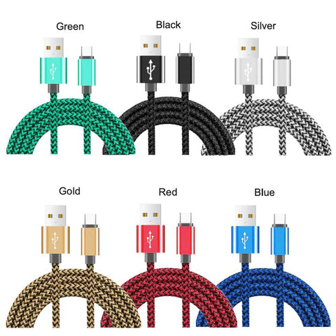 10 Foot 2.4A Fast charging Hemp braided Cable