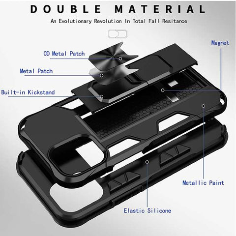 Image of Robotok™ Hybrid iPhone Case cover with Kickstand Grip