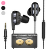 Langsdom D4CX Double Driver Earphones with HQBass™