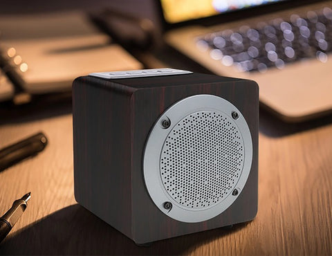 Image of BY3080 USB AUX Amazing Wood Home Audio Bluetooth Speaker