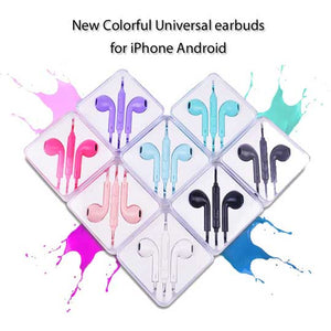 New Universal Earbuds for iPhone Android with Volume control & Mic