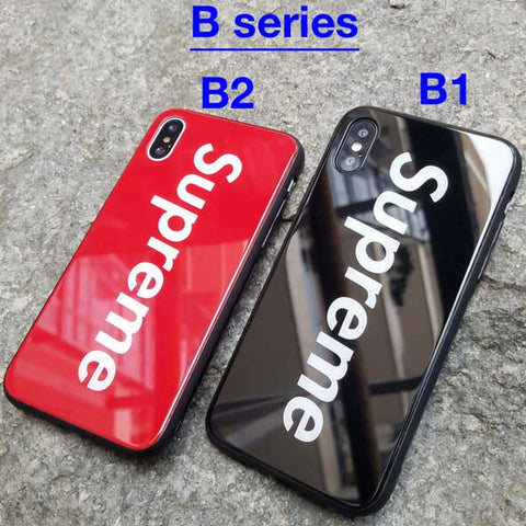 Supreme iPhone Case Glass back [3 designs]