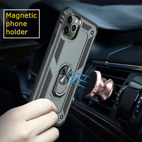 iPhone Shockproof Case with Ring stand [ Military Grade ]