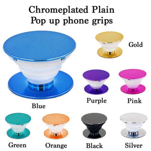 Plain blank Electroplated Colourful Pop up phone holder grip