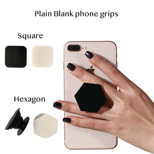 Plain Blank Hexagon Square Popsockets phone grip