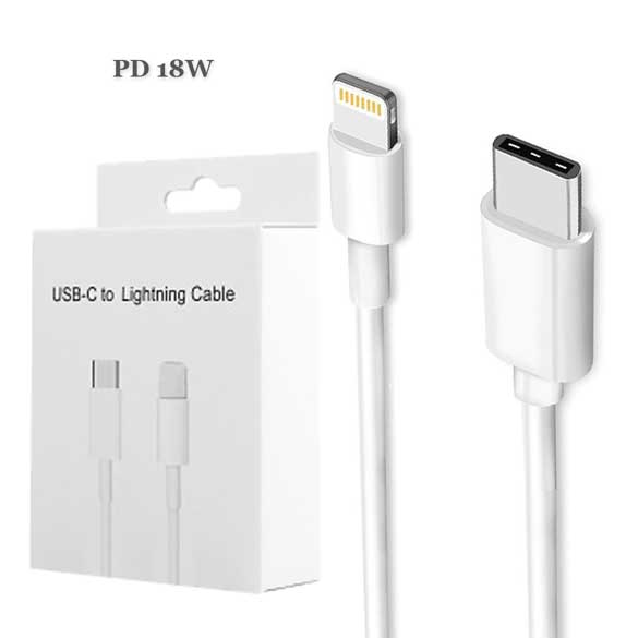 PD USB Type C to 8 pin Lightning Cable for iPhone