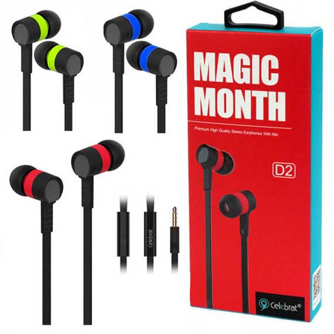 Celebrat Magic Month D2 Earbuds with Mic