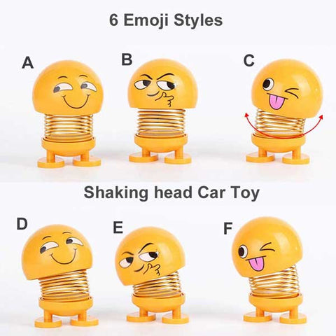 Image of Car Dash Emoji Spring Toy Bobbleheads