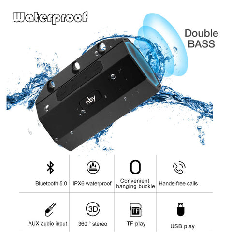 NBY 2290 Portable Waterproof Bluetooth Wireless Speaker