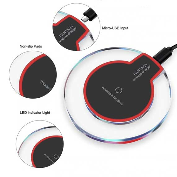 Acrylic base 5V 1A K9 Fantasy Wireless Charger