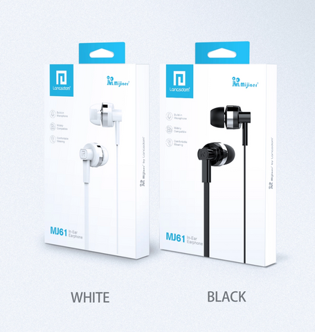 Langsdom MJ61 Puretone™ earphones with mic