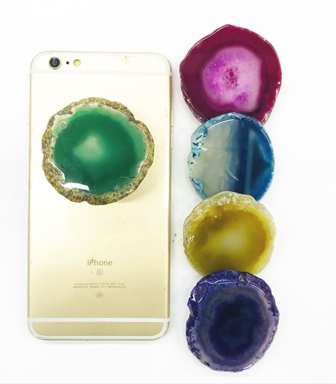 Real Natural Agate Stone Slab phone grip [HIGH QUALITY]
